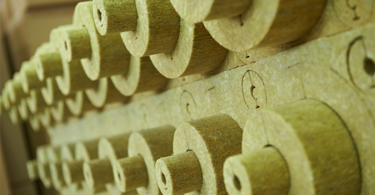 Mineral Wool Pipe Sections un-laminated